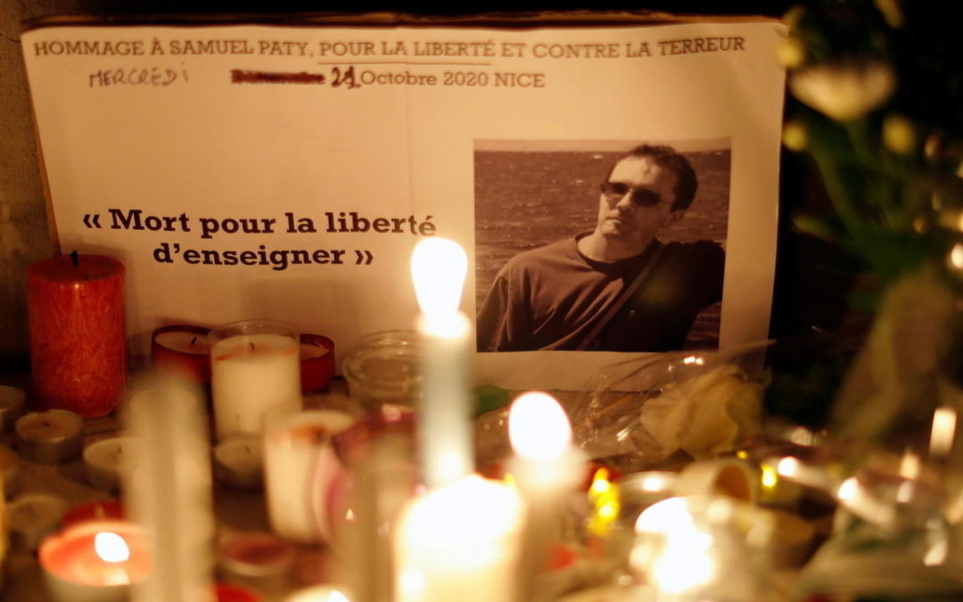 FRANCE: French prosecutors charge seven, including two teens, over teacher's killing