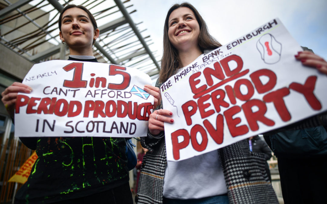 SCOTLAND becomes first country to provide period products for free