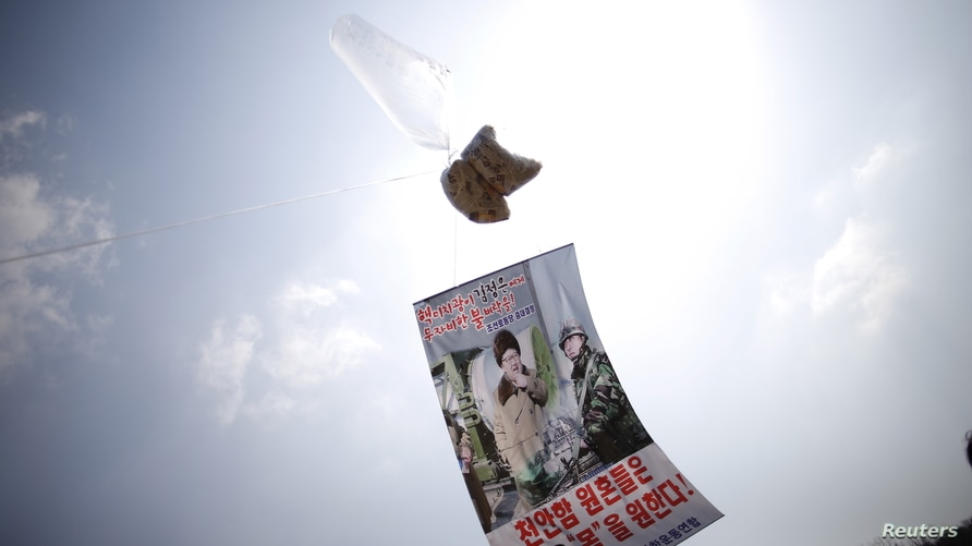SOUTH & NORTH KOREA: A law banning balloons carrying leaflets to North Korea