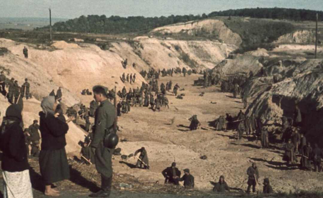UKRAINE: The first major massacre in the 'Holocaust by bullets': Babi Yar, 1941