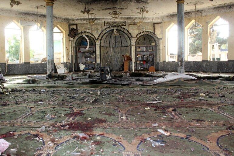 AFGHANISTAN: Dozens killed in suicide bombing at Kunduz mosque