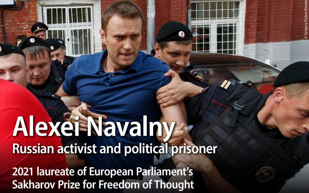 EU – RUSSIA: Alexei Navalny awarded the European Parliament's Sakharov Prize